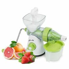 Manual Juicer Multi Functional Slow Masticating Single Auger Assembled