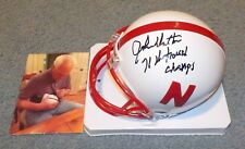 Nebraska Huskers John Dutton Signed Autographed Mini Helmet National Champs