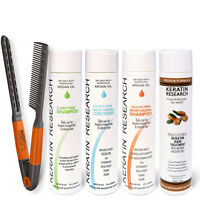 Brazilian complex hair Keratin Treatment set 300ml with Argan oil Free Easy Comb
