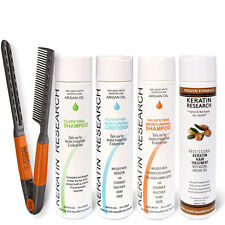 Brazilian complex hair Keratin Treatment set 300ml with Argan oil Free Easy Comb