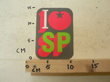STICKER,DECAL SP SOCIALISTISCHE PARTIJ I LOVE SP