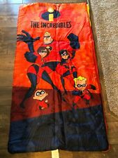 Disney Collectible Incredibles Red Sleeping Bag 2005 Excellent Condition Rare