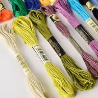 50 Docken Sticktwist Stickgarn 8m 6-faedig Multicolor farblich bunt W7W6 D2