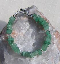 "Green Aventurine Crystal Gemstone Chakra Bracelet ""Sweet Leaf"""
