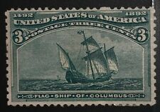 Travelstamps: 1893 Us Stamps Scott#232, Flagship, mint hinged og hinged,3cent