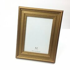 Pottery Barn Picture Frame Freestanding Gold Tone Holds 5 X 7  Ready To Hang