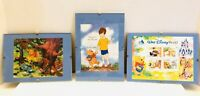Vintage Walt Disney World Winnie The Pooh World Stamps Collection Lot Of 3 COA