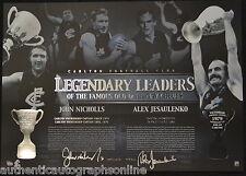 Carlton Blues Jesaulenko Nicholls Signed Legendary Leaders Print