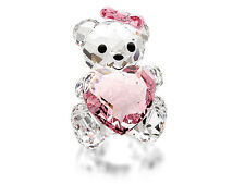 SWAROVSKI CRYSTAL KRIS BEARS #1096732 ONLY FOR YOU BNIB LOVE PINK HEART GIRL F/S