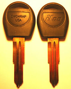 2 Pack For Aveo/Nubira/Forenza/Reno REPLACEMENT NON-TRANSPONDER UNCUT KEY BLANKS
