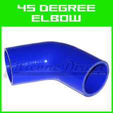 """Silicone 45 Degree Elbow Hose - 102mm (4"""") ID - Blue"""