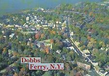 Dobbs Ferry New York, Hudson River, Intersection Route 9 Cedar Street - Postcard