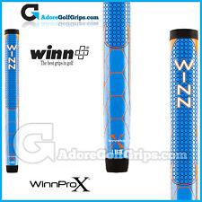 "WINN PRO X 1.18 ""medie TONDA LITE Putter Grip-Blu / Arancione / Bianco"