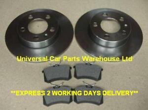 SEAT LEON MK 1  99-05 TWO REAR BRAKE DISCS AND A SET OF BRAKE PADS LH AND RH