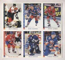 1993-94 Score Hockey Card Promo Panel Uncut Sheet Lindros Potvin Gartner Larmer