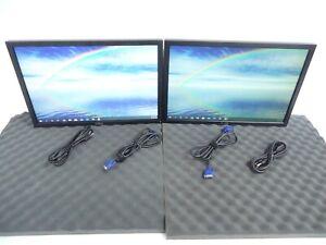 "LOT OF 2 Dell P2210T Black MONITOR 22"" WideScreen Screen 1680 x 1050 Resolution"