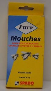 ANTI MOUCHES FURY EFFET FOUDROYANT ATTRACTIF SEXUEL PROFESSIONNEL INSECTISIDE