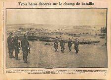 Poilus Héros Décorés Médaille Militaire Champ de Bataille de la Marne WWI 1914