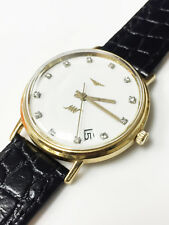 Longines Ultra Chron 18K Gold 12 Diamonds Automatic Vintage Watch Cal.431 17J