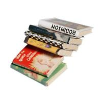 1/12 Wooden Doll house Miniature Books 6 pcs colorful Supply. K6Q5