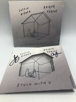 Justin Bieber & Ariana Grande signed autograph Stuck With U CD booklet & CD