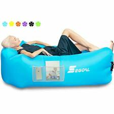 Inflatable Lounger Air Sofa Couch with Pillow, Portable Waterproof Anti Blue
