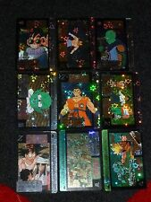 DRAGONBALL Z - Prismatic Foil Trading Cards  LOT of 9  RARE Carddass RePrint DBZ