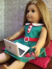 """White MacBook Air Laptop Computer for 18"""" American Girl Doll accessories"""