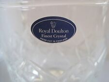 Royal Doulton Champagne Ice Bucket Finest Crystal England w Handles