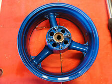 Kawasaki Ninja 03 04 636 OEM rear rim wheel zx6r 6RR STRAIGHT ZZR Blue