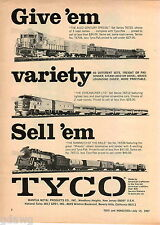 1967 ADVERT Tyco Electric Train Toy Set Mommoth Of The Rails Structo Trucks Toys