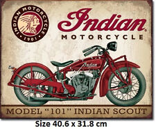 Indian Scout  Tin Sign 1933 Official Licensed Sign.