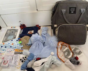 Huge Baby Boys Bundle Essentials Hats Nike Socks Pram Bag Safety Comfort Toys