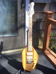CUSTOM Phantom Style Electric Guitar WOOD Poplar Cherry Cocobolo Zebra Maple