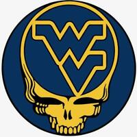 (2) West Virginia Mountaineers Grateful Dead Vinyl Car Stickers 4x4 Glossy Decal