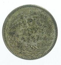 1887 Netherlands Ten Cent Coin C245022