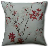 """Cushion Covers in Forsythia Rosehip Red Grey Laura Ashley Fabric 16"""" Pillows"""