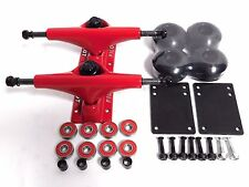 Pilot 5.0 Skateboard Trucks 52mm Black wheels Bearings Hardware Combo