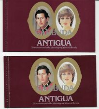 L3021 ANTIGUA & BARBUDA  Complete 2 Booklet stamps Charles & Lady Di