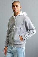 NEW mens Urban Outfitters Gray Zip Up BANKS Jacket sz S Small