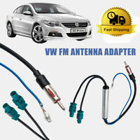 2 Fakra to DIN Car FM Stereo Radio Aerial Mast Antenna Adapter For VW Audi