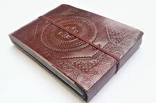 Fair Trade Handmade Embossed Leather Photo Album, Scrapbook, Artbook. 10x6x1.5cm
