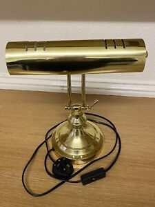 Brass Bankers Lamp | 40W | Good Condition