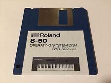 Roland S-50 Sampler - Operating System bootdisk v2.02  Floppy SYS502 - S50