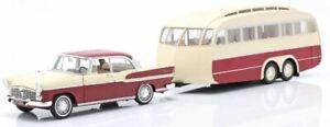 Norev 1/18 Scale 185728 - 1958 Simca Vedette Chambord & Caravan Heno