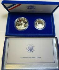 1986 STATUE OF LIBERTY ***PROOF*** TWO COIN SET WITH SILVER DOLLAR