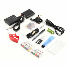 Tattoo Kit Pro Gun Machine Power Pedal 10 Color Ink Set Needle Grip 2Y