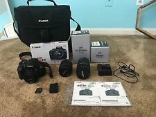 Canon Rebel T6 DSLR and accessories lens