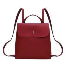 Women Backpack PU Leather Hasp Shoulder Handbags Schoolbags Mini Casual Rucksack
