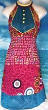 "Pink Blue Yellow Cotton Kurti Anarkali Dress Indian Punjabi Kameez M 36"" Bust"